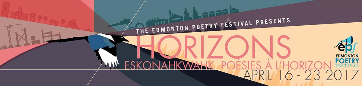 Edmonton Poetry Festival Horizons Banner