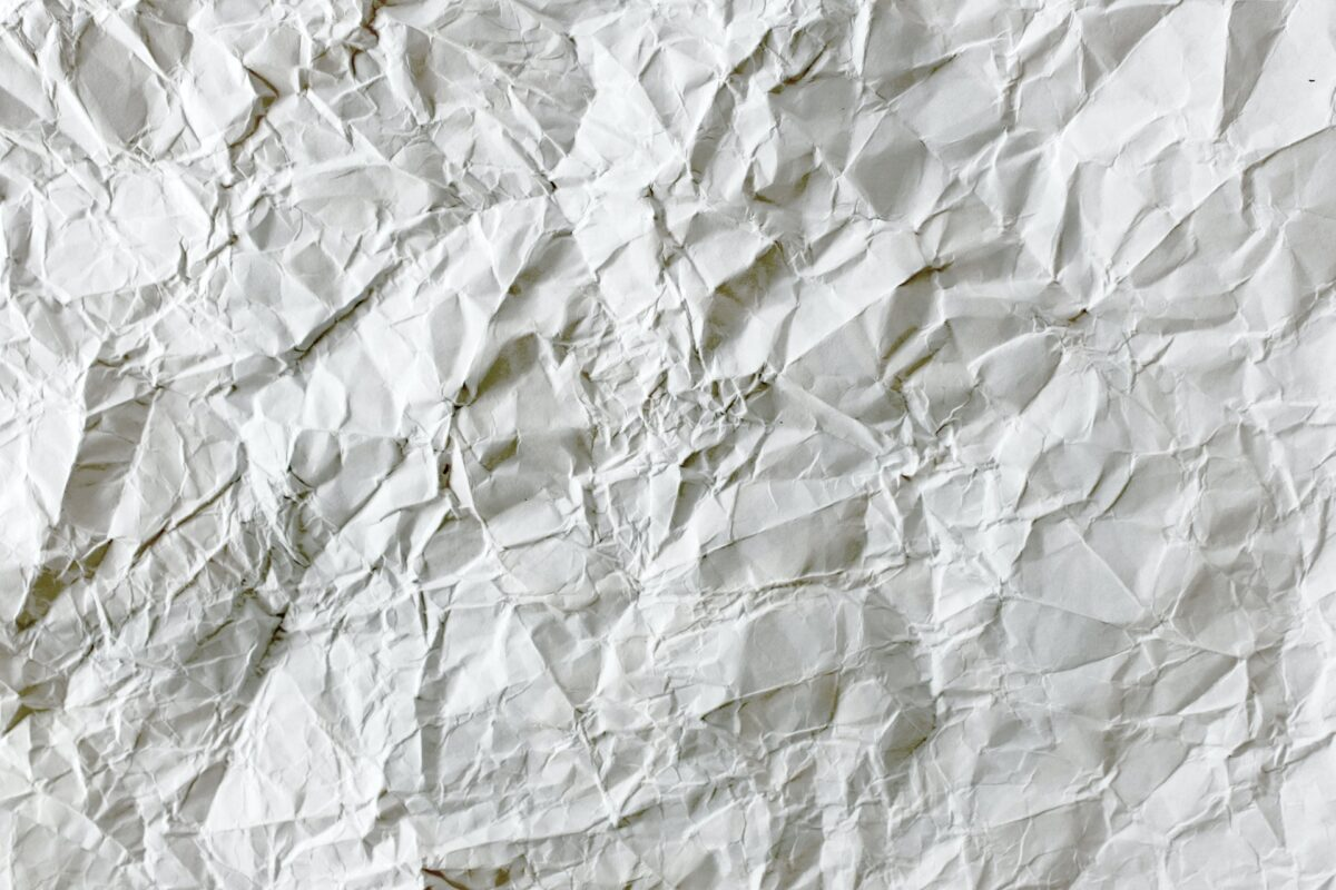 Neutral background pattern that resembled crumpled white paper